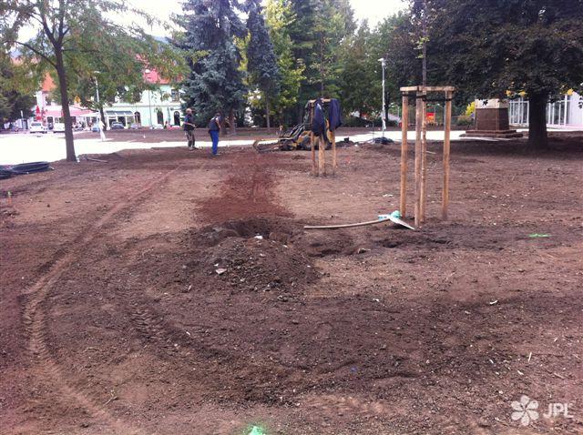 Veřejná zeleň, Závlahové systémy - jplcz.com - Revitalizace centrálního parku v Lovosicích