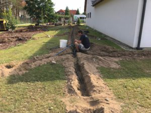 Instalace závlahového systému, Roudnice nad Labem