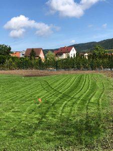Realizace trávníku a závlahového systému Litoměřice
