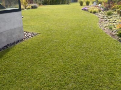 Regenerace trávníku 1200m2 Kunratice